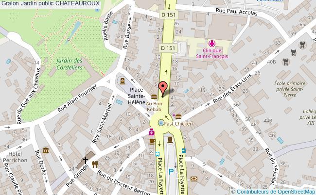 plan association Jardin Public Chateauroux CHATEAUROUX