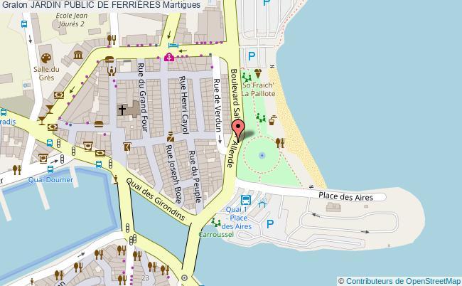 plan Jardin Public De FerriÈres Martigues