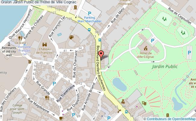 Jardin public de l 39 h tel de ville cognac tourisme parcs et for Jardin public 78