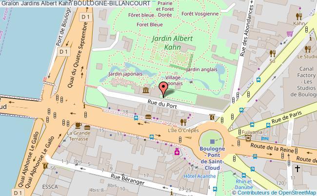 plan Jardins Albert Kahn Boulogne-billancourt