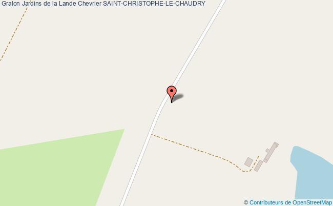plan Jardins De La Lande Chevrier Saint-christophe-le-chaudry