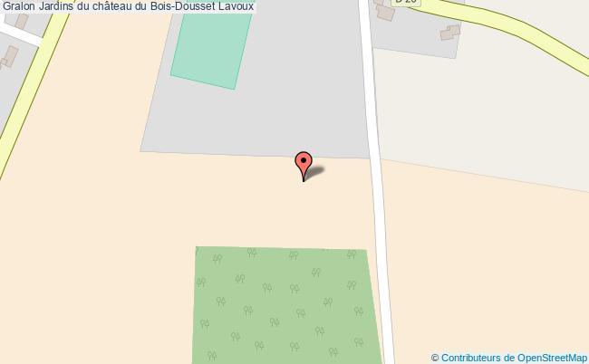plan Jardins Du Château Du Bois-dousset Lavoux