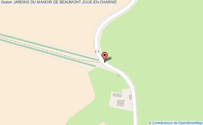 plan Jardins Du Manoir De Beaumont Joue-en-charnie