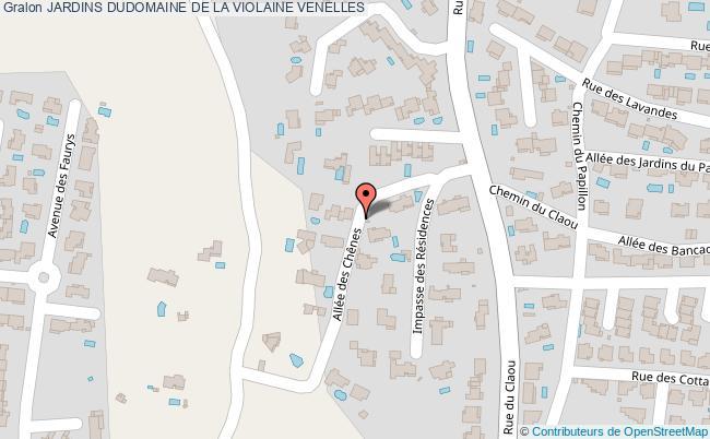 plan Jardins Dudomaine De La Violaine Venelles