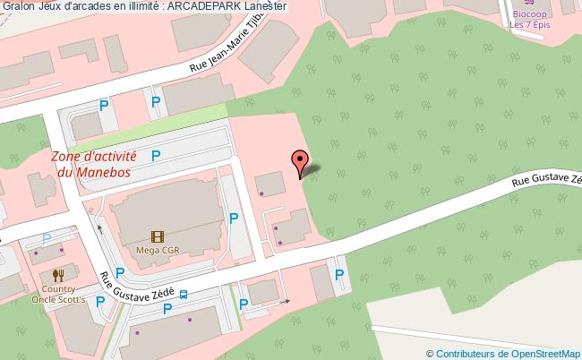 plan association Jeux D'arcades En Illimité : Arcadepark Lanester Lanester