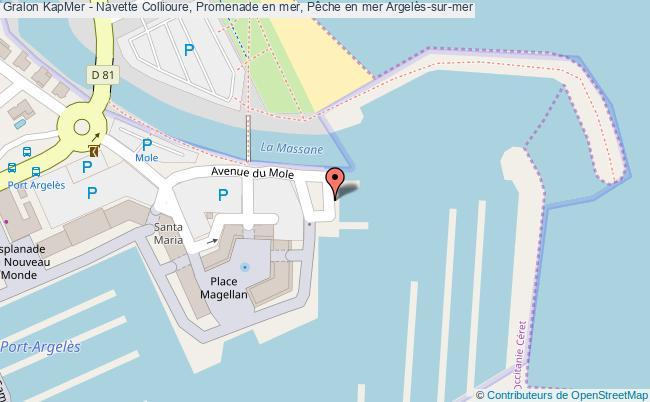 plan Kapmer - Navette Collioure, Promenade En Mer, Pêche En Mer Argelès-sur-mer