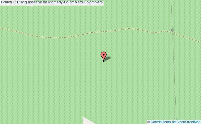 plan L' Etang Asseché De Montady-colombiers Colombiers