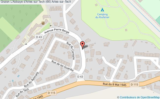 plan L'abbaye D'arles Sur Tech (66) Arles-sur-tech