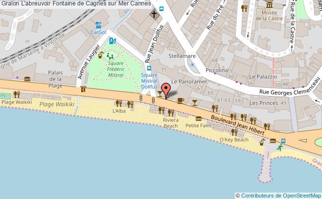 plan L'abreuvoir Fontaine De Cagnes Sur Mer Cannes