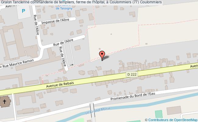 plan L'ancienne Commanderie De Templiers, Ferme De L'hôpital, à Coulommiers (77) Coulommiers