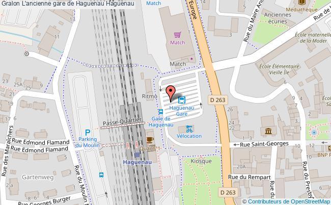 plan L'ancienne Gare De Haguenau Haguenau