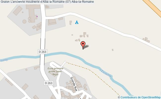 plan L'ancienne Moulinerie D'alba La Romaine (07) Alba-la-romaine