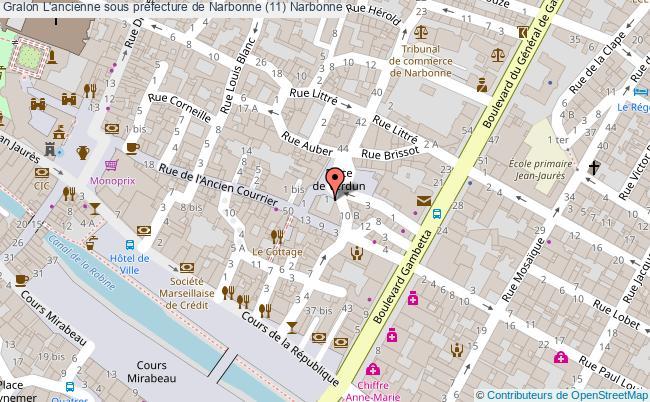 plan L'ancienne Sous Préfecture De Narbonne (11) Narbonne