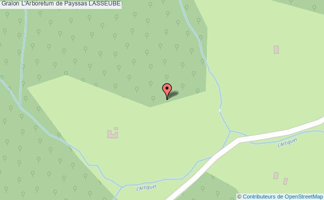 plan association L'arboretum De Payssas Lasseube LASSEUBE