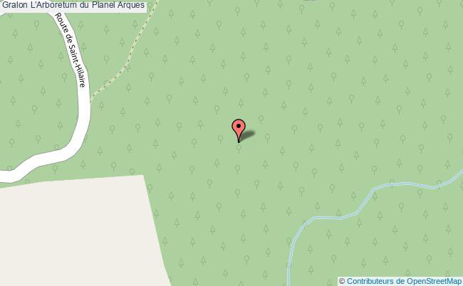 plan L'arboretum Du Planel Arques