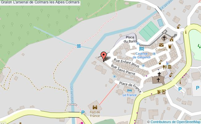 plan L'arsenal De Colmars Les Alpes Colmars
