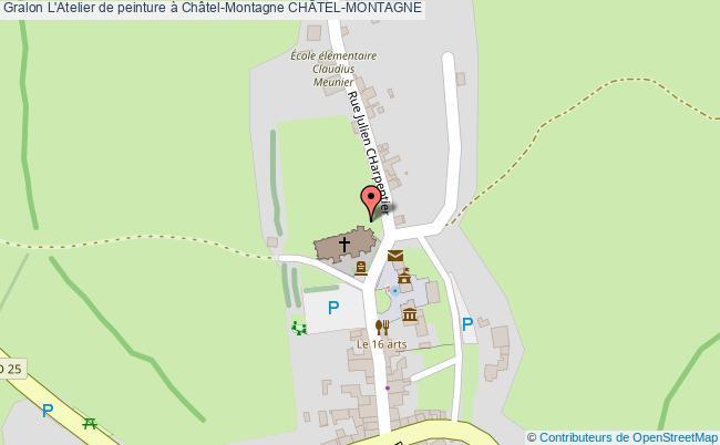 plan L'atelier De Peinture à Châtel-montagne ChÂtel-montagne