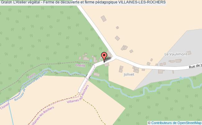 plan L'atelier Végétal - Ferme De Découverte Et Ferme Pédagogique Villaines-les-rochers