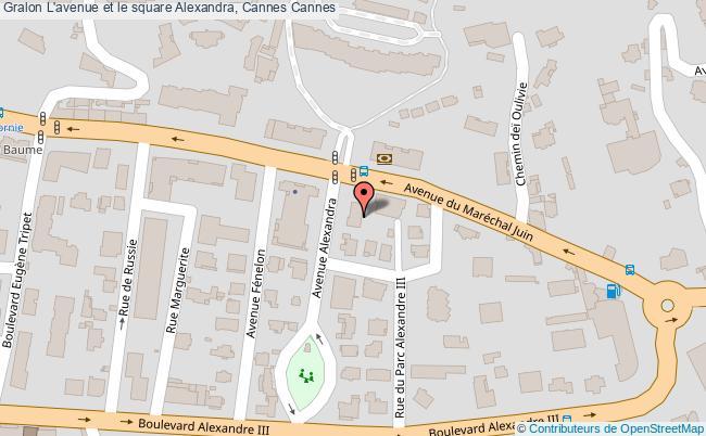 plan L'avenue Et Le Square Alexandra, Cannes Cannes