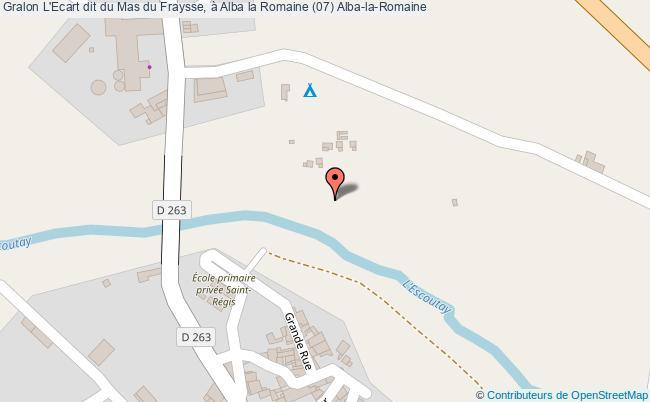 plan L'ecart Dit Du Mas Du Fraysse, à Alba La Romaine (07) Alba-la-romaine