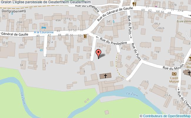 plan L'église Paroissiale De Geudertheim Geudertheim