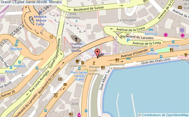 plan L'eglise Sainte Dévote  Monaco