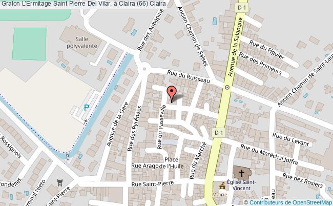 plan L'ermitage Saint Pierre Del Vilar, à Claira (66) Claira