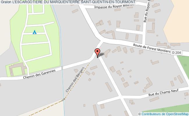 plan L'escargotiere Du Marquenterre Saint-quentin-en-tourmont