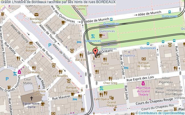 plan L'histoire De Bordeaux Racontée Par Ses Noms De Rues Bordeaux