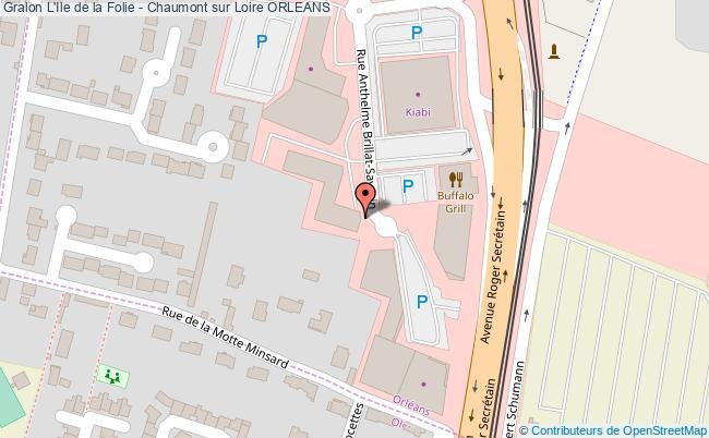 plan L'ile De La Folie - Chaumont Sur Loire Orleans
