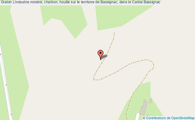 plan L'industrie Minière, Charbon, Houille Sur Le Territoire De Bassignac, Dans Le Cantal Bassignac