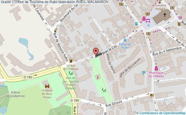 plan L'office De Tourisme De Rueil Malmaison Rueil-malmaison