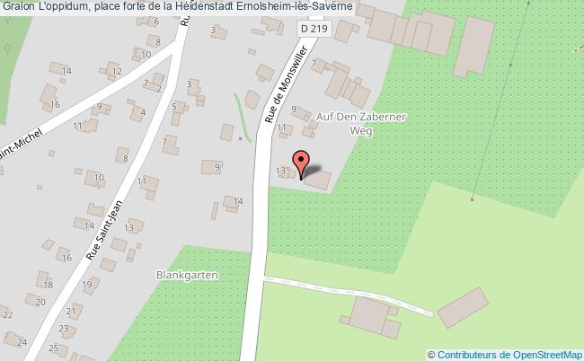 plan L'oppidum, Place Forte De La Heidenstadt Ernolsheim-lès-saverne