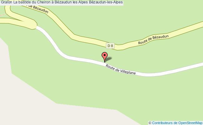 plan La Bastide Du Cheiron à Bézaudun Les Alpes Bézaudun-les-alpes