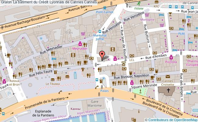 plan La Bâtiment Du Crédit Lyonnais De Cannes Cannes