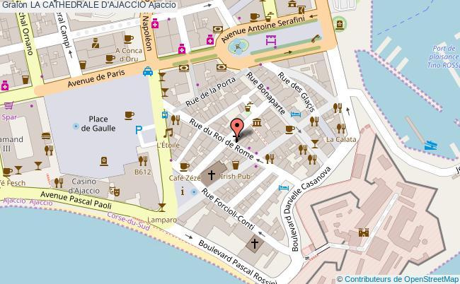 plan La Cathedrale D'ajaccio Ajaccio
