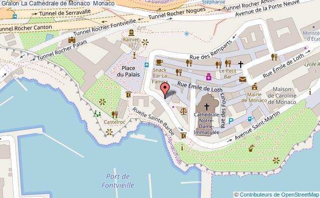 plan La Cathédrale De Monaco  Monaco