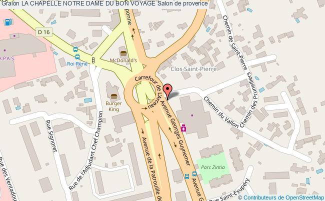 plan La Chapelle Notre Dame Du Bon Voyage Salon De Provence