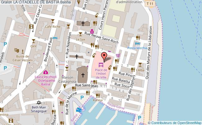 plan La Citadelle De Bastia Bastia