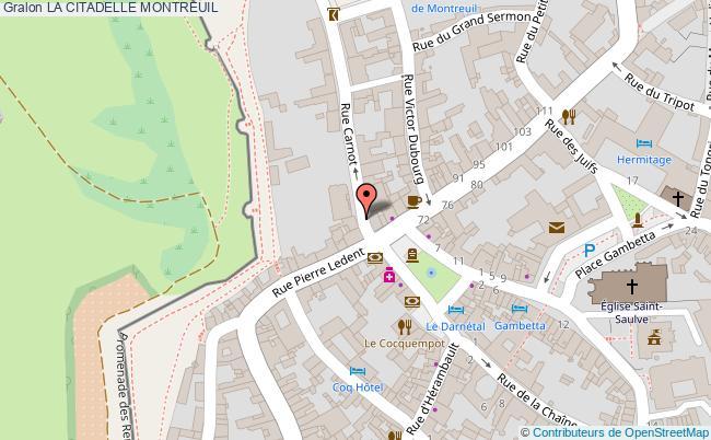 plan La Citadelle Montreuil