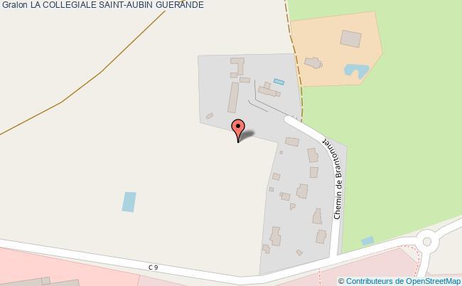 plan La Collegiale Saint-aubin Guerande