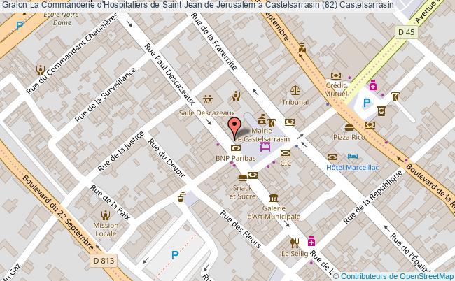 plan La Commanderie D'hospitaliers De Saint Jean De Jérusalem à Castelsarrasin (82) Castelsarrasin