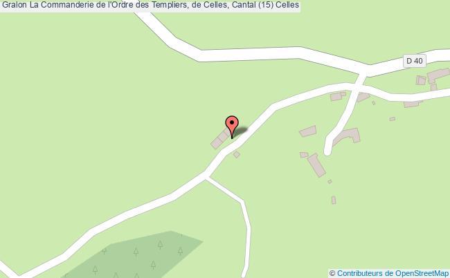 plan association La Commanderie De L'ordre Des Templiers, De Celles, Cantal (15) Celles Celles