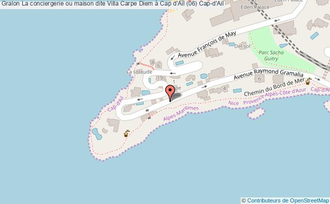 plan La Conciergerie Ou Maison Dite Villa Carpe Diem à Cap D'ail (06) Cap-d'ail