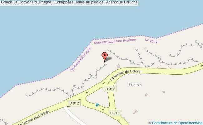 plan association La Corniche D'urrugne : Echappées Belles Au Pied De L'atlantique Urrugne Urrugne