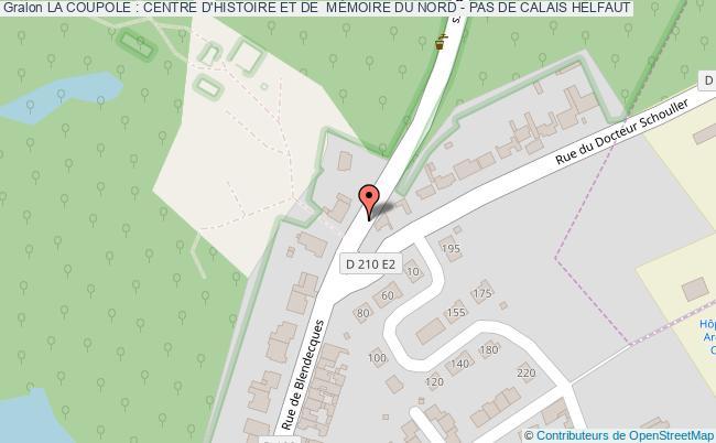 plan La Coupole : Centre D'histoire Et De  MÉmoire Du Nord - Pas De Calais Helfaut
