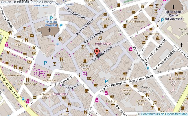 plan La Cour Du Temple Limoges