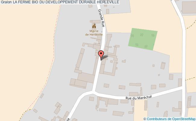plan association La Ferme Bio Du Developpement Durable Herleville HERLEVILLE