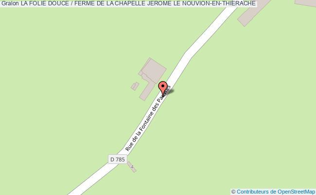 plan La Folie Douce / Ferme De La Chapelle Jerome Le Nouvion-en-thierache