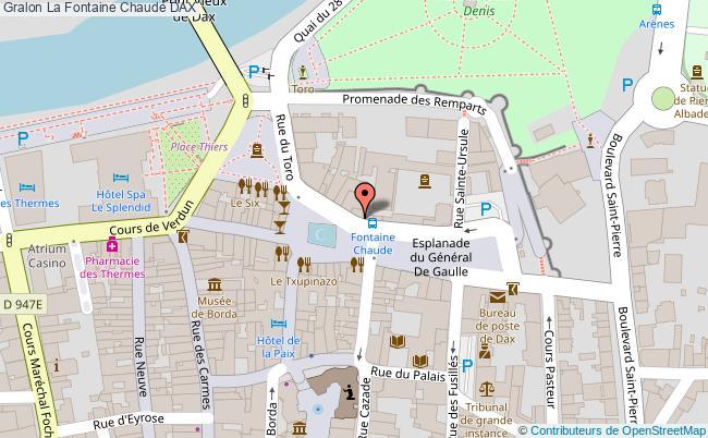 plan association La Fontaine Chaude Dax DAX